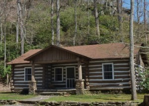Park cabin constructed by CCC and promoted by Watoga State Park Foundation