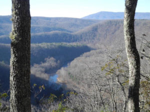 Monongaseneka Overlook of Greenbrier River Feb, 2018