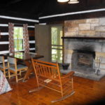 Interior of Watoga cabin built with Chestnut