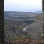 Monongasenka overlook south towards Droop Mountain in distance