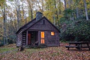 Rental cabin at Watoga State Park