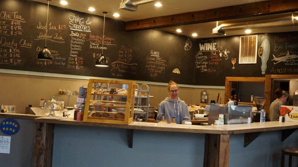 Kristy Lanier, proprietor of Dirtbean Cafe & Bike Shop Marlinton, WV