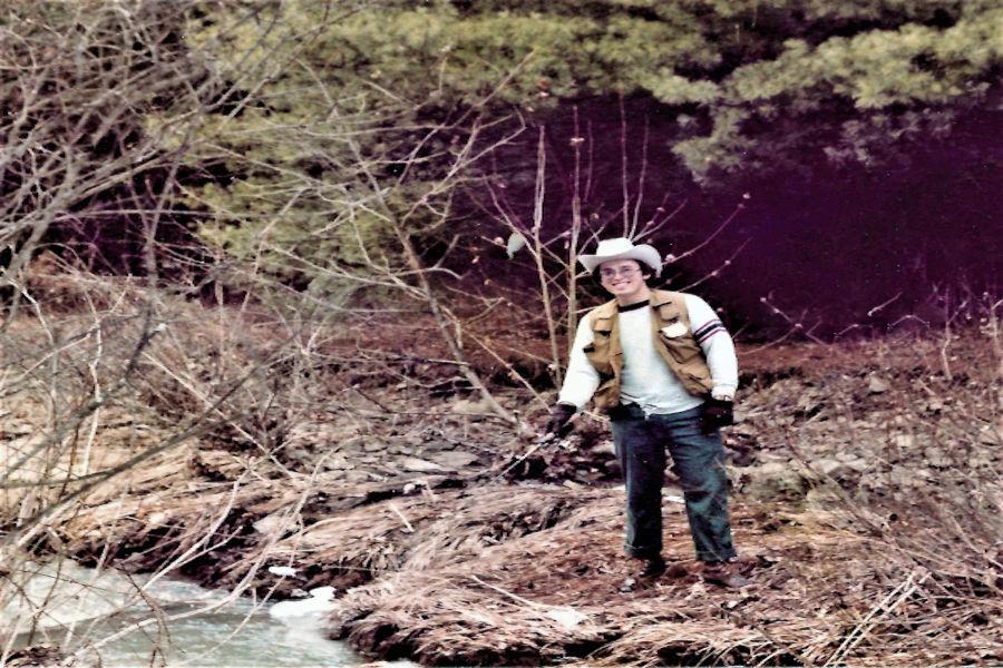 Ronnie Dean trout fishing at Laurel Run, Watoga State Park, circa 1980   📸: John Dean