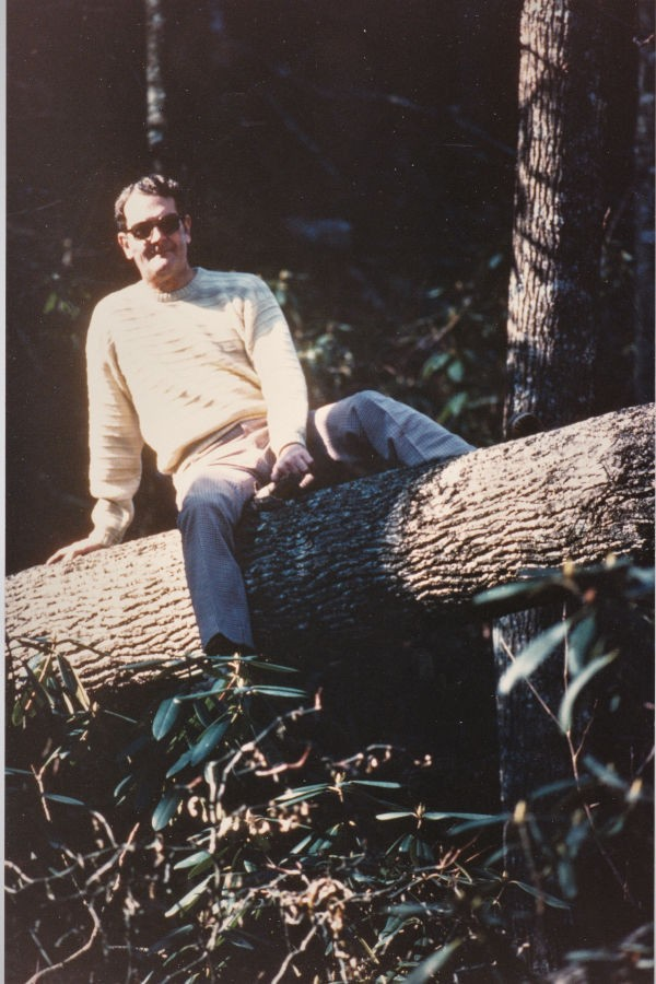In 1948, my grandfather, Leonard (pictured here at Cabin 4), began our family's tradition of visiting Watoga every summer with his wife and my grandmother, Flora. 📸: David Bott, circa 1983.