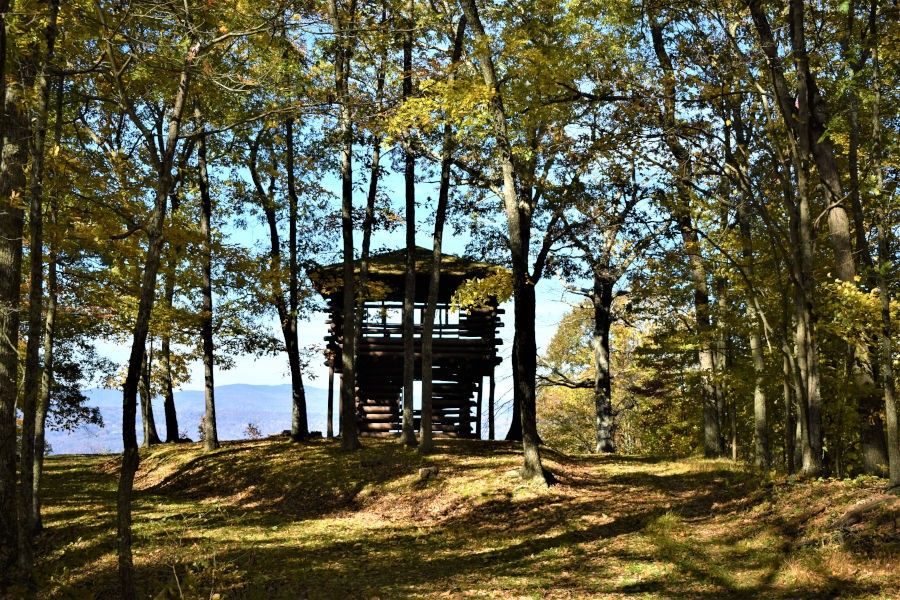 Stunning fall views await. Seeing the vistas on the other side of the Ann Bailey Lookout Tower is well worth the hike on a crisp October day. Photo by John Dean©.