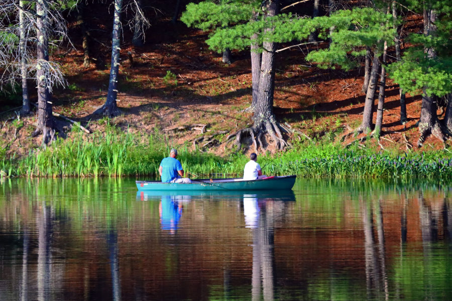 Fishing in the summer on the lake is just a given. ©Angela Hill